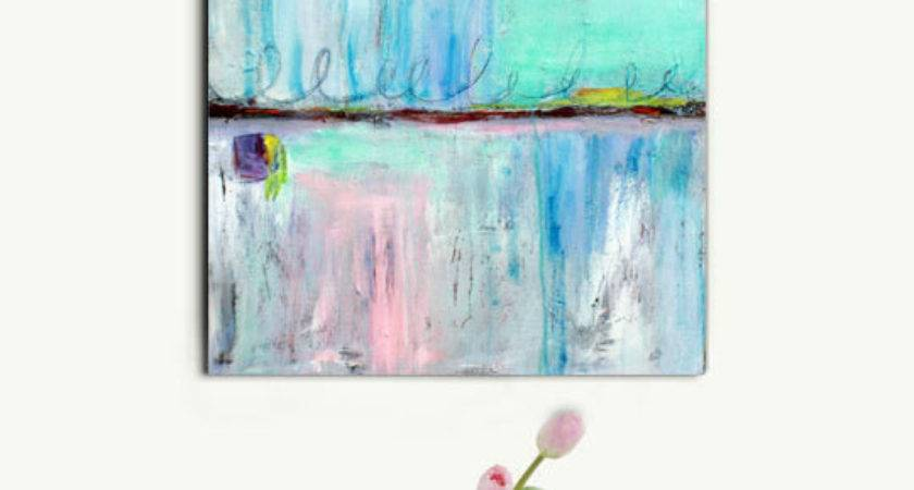 Abstract Painting Pastel Art Large White