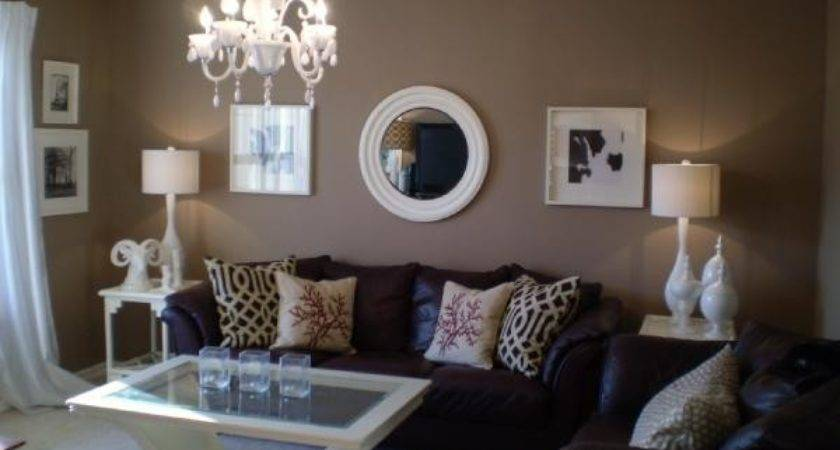 Accent Color Tan White Room Home Decorating