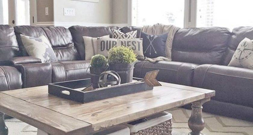 Accent Pillows Leather Sofa Modern Style Home Design
