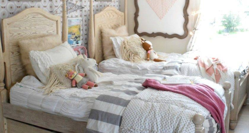 Accent Wall Girls Shared Bedroom Again