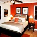 Accents Design Bedroom Burnt Orange Accent Wall