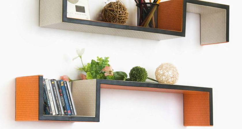 Accessories Charming Asymmetrical Shelves Wall Mounted