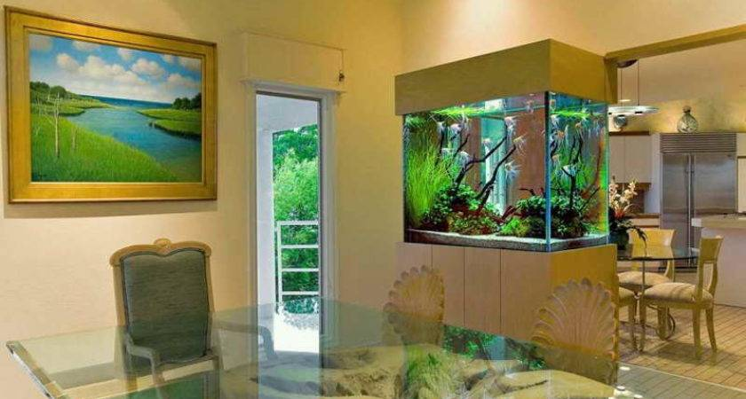 Accessories Modern Home Aquariums Glass Table