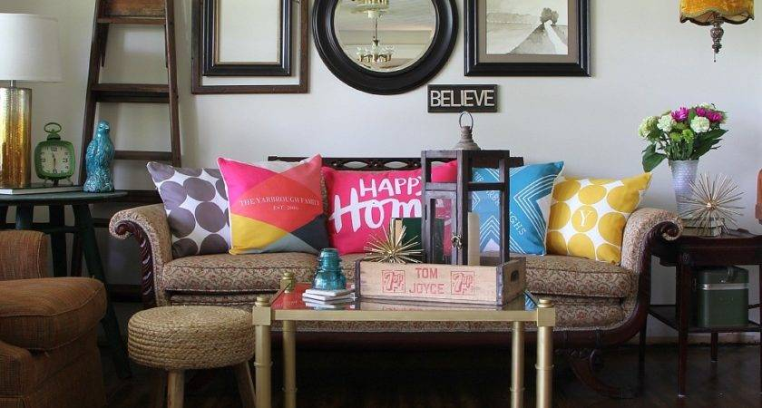 Accessorize Your Living Room Color Tiny Prints