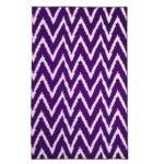 Add Character Color Wavy Chevron Dorm Rug Purple