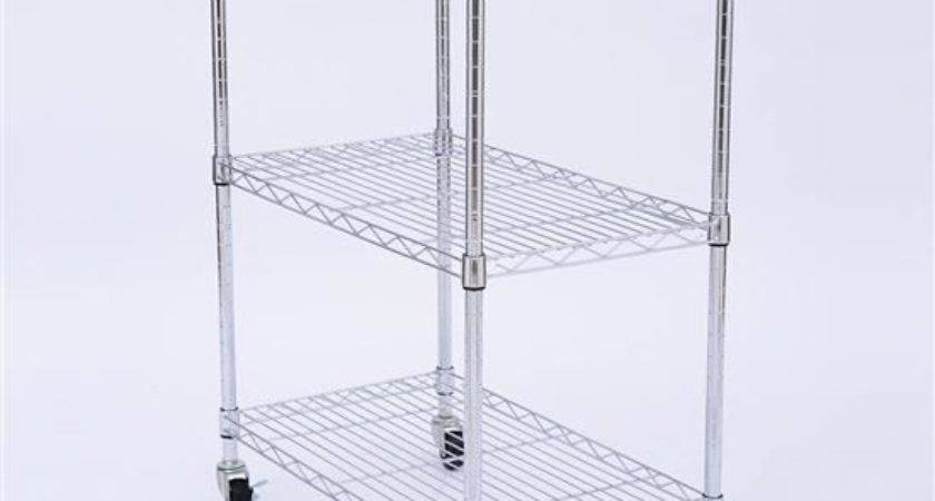 Affordable Variety Portable Rolling Wire Shelf Wood