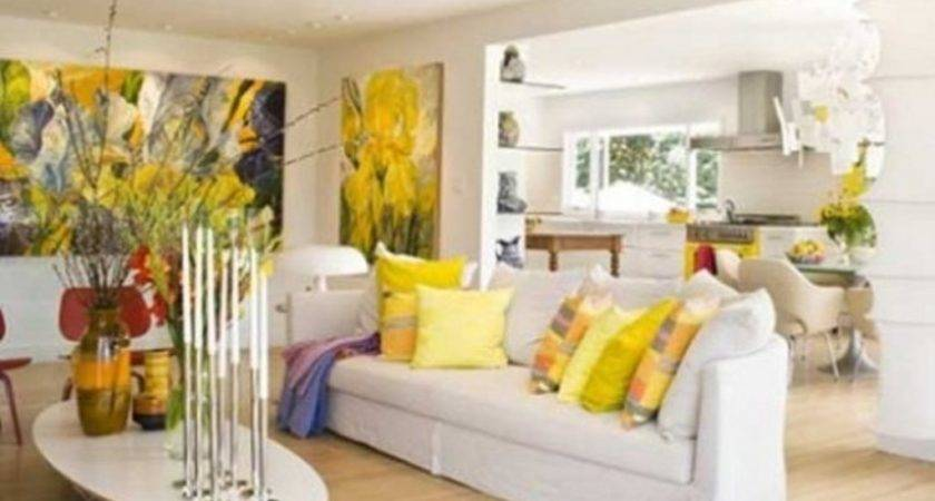 Airy Living Room Decorating Ideas White Couch