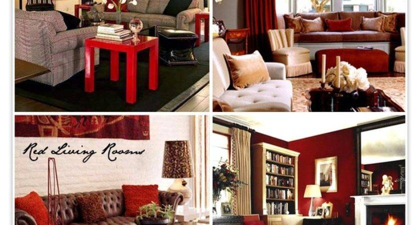 All Red Living Room May Brown Like Current