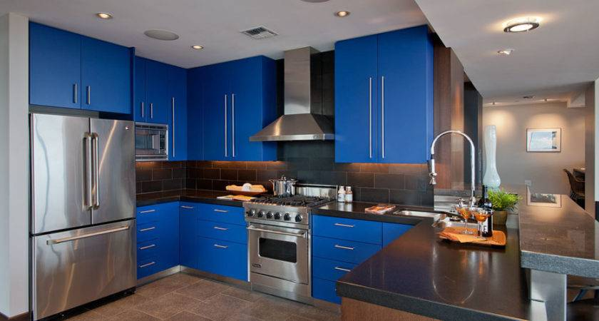 Alluring Blue Kitchen Design Ideas Home