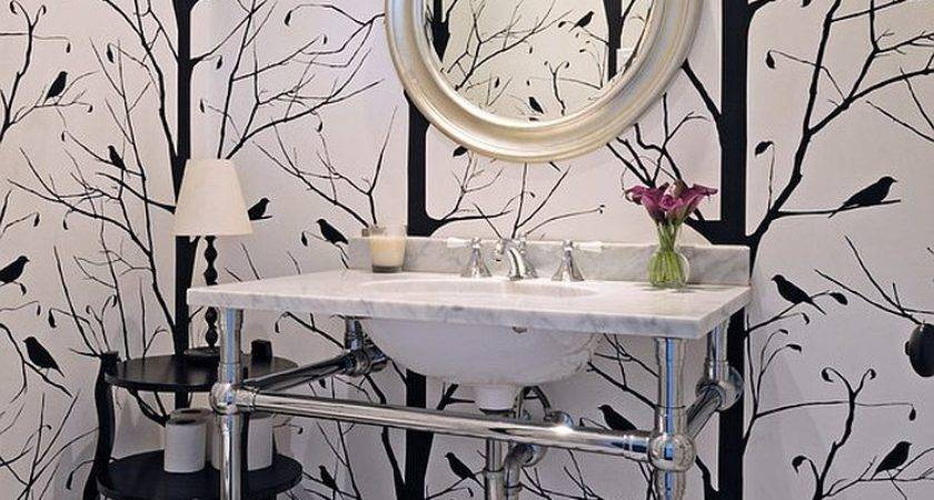 Always Trend Powder Rooms Black White