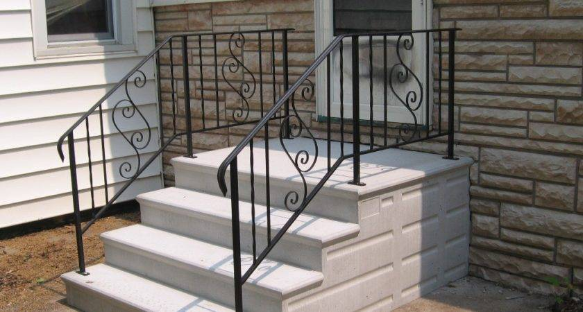 Amazing Concrete Stair Treads Railing Stairs Kitchen