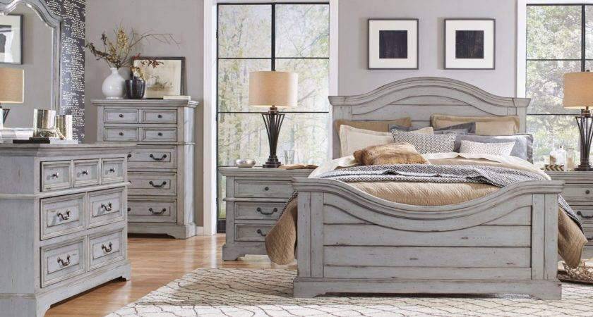 American Woodcrafters Stonebrook Antique Gray Panel