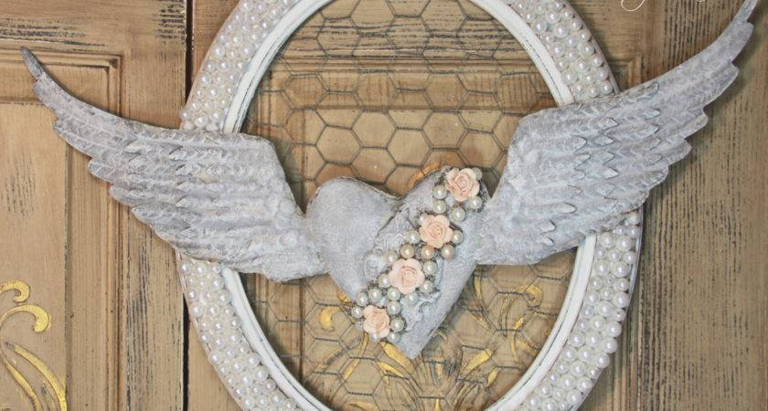Angel Wing Wall Decor Metal Wings Heart