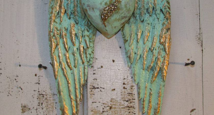 Angel Wings Wall Decor Heart Shabby Chic