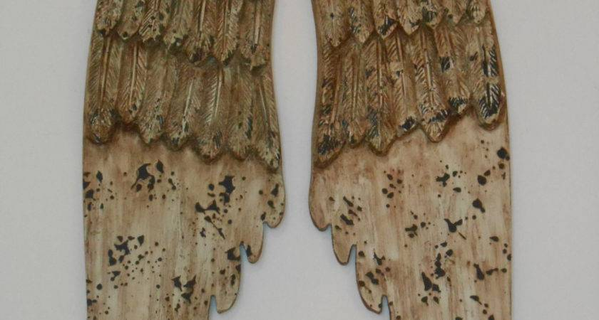 Angel Wings Wall Decor Home Distressed