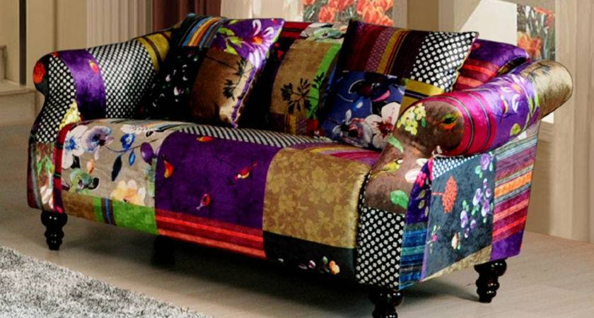 Anna Shout Seater Patchwork Fabric Sofa Ebay