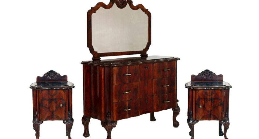 Antique Chippendale Furniture Set Italian Bedroom
