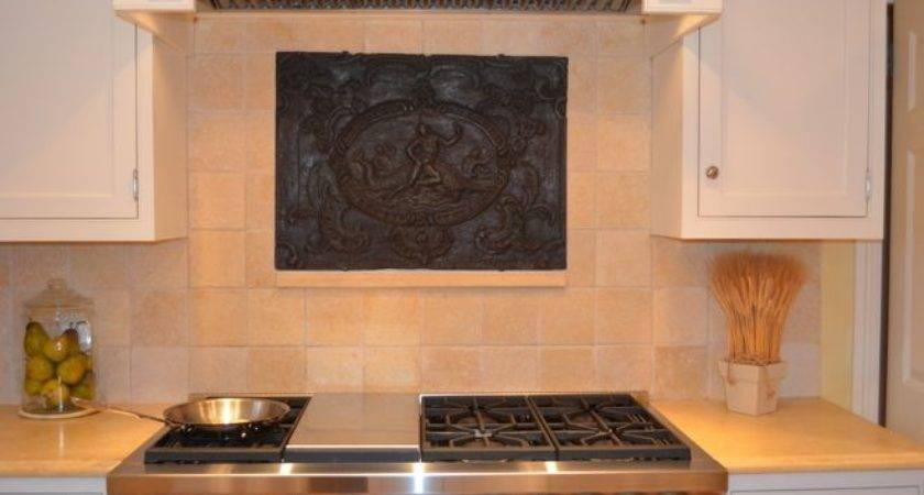 Antique Firebacks Backsplash