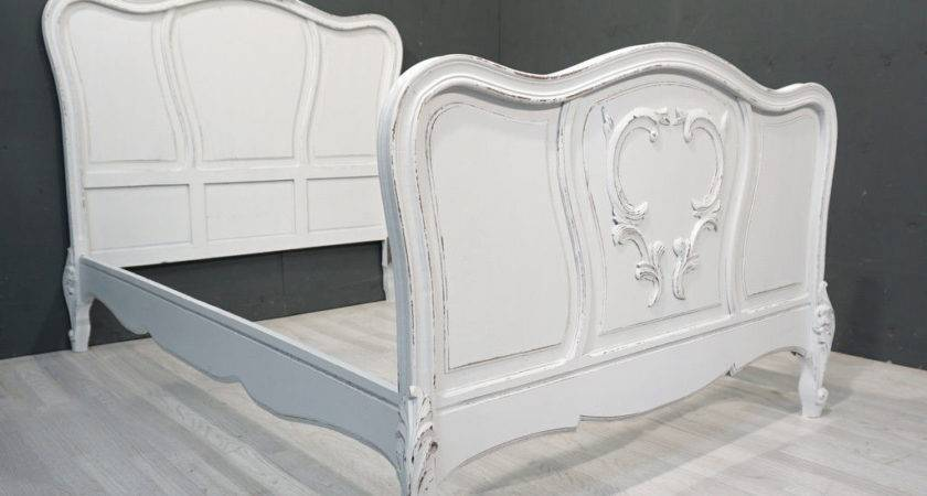 Antique French Bed Painted Shabby Style