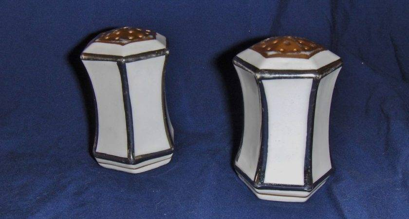 Antique Vintage Prussia Unique Salt Pepper