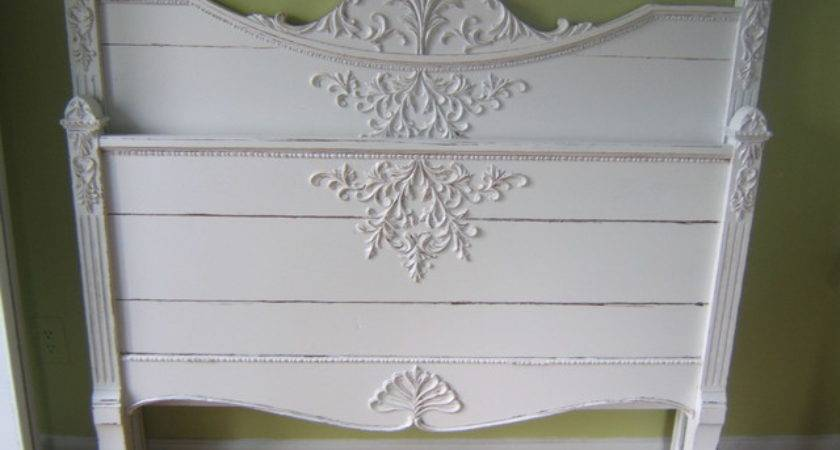 Antique White Shabby Chic Bed Detroit Karen