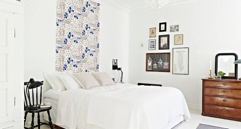 Apartment Bedroom Ideas White Walls Bedsheet