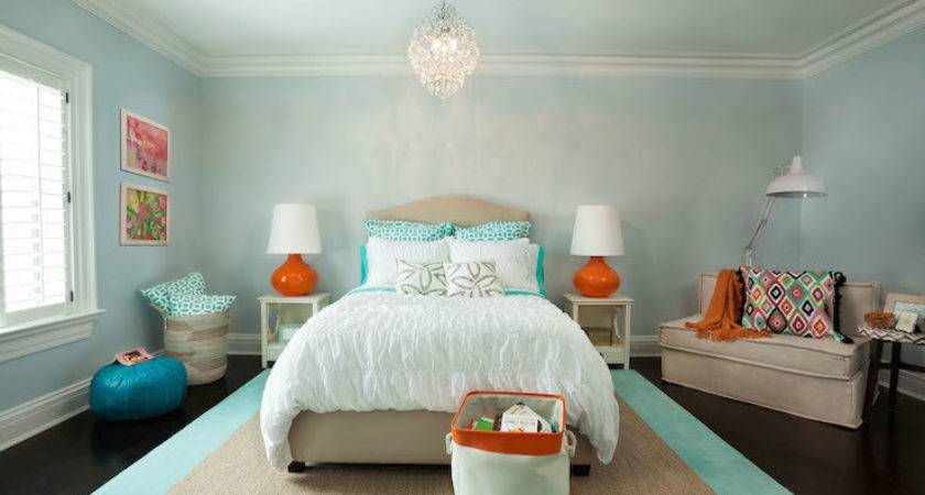 Aqua Blue Walls Design Ideas
