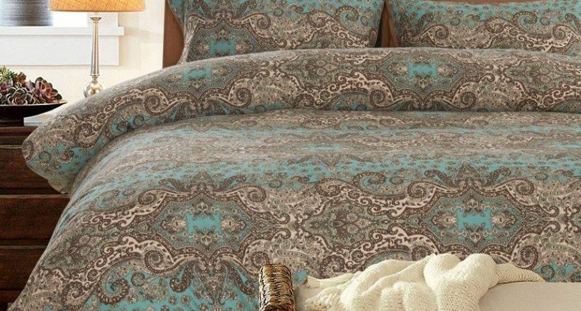 Aqua Brown Bedding Decorate House