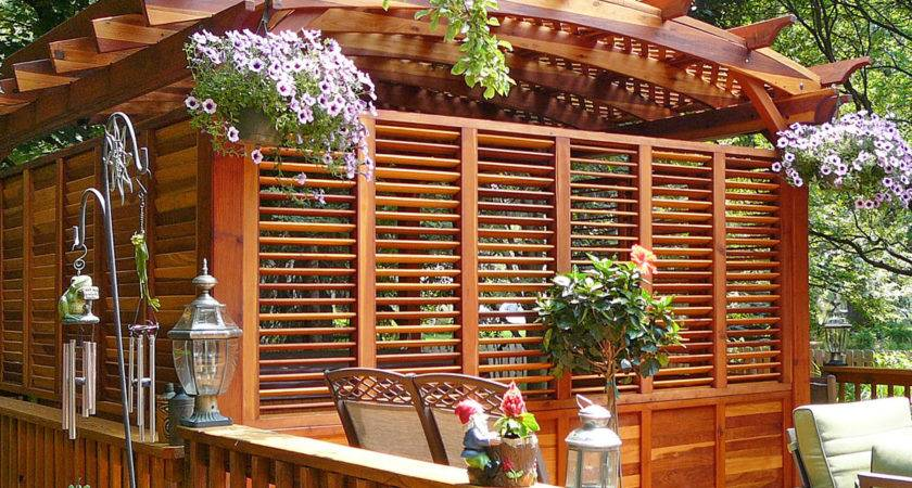 Arched Pergola Kits Redwood Garden Pergolas