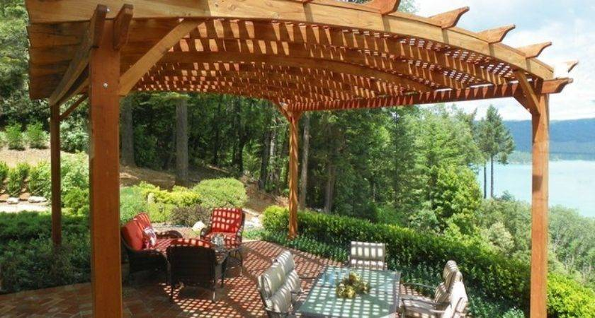 Arched Pergola Traditional Dining Room Other Metro