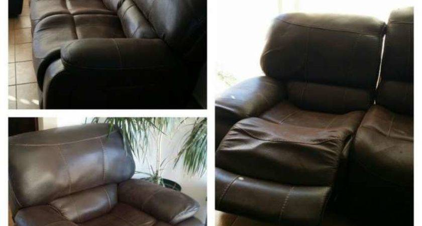 Archive Brown Reclining Leather Lounge Suite Randfontein