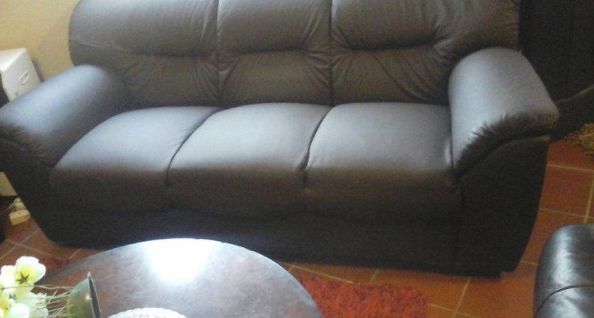 Archive Piece Brown Leather Lounge Suite New Wetton