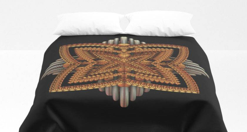 Art Deco Brooch Duvet Cover Lyle Society