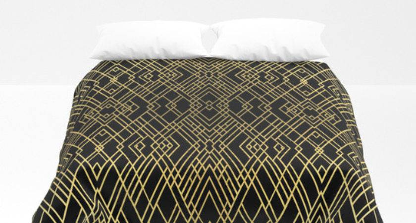 Art Deco Gold Duvet Cover Project Society