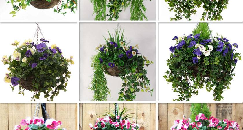 Artificial Pansy Hanging Basket Various Colours Sizes