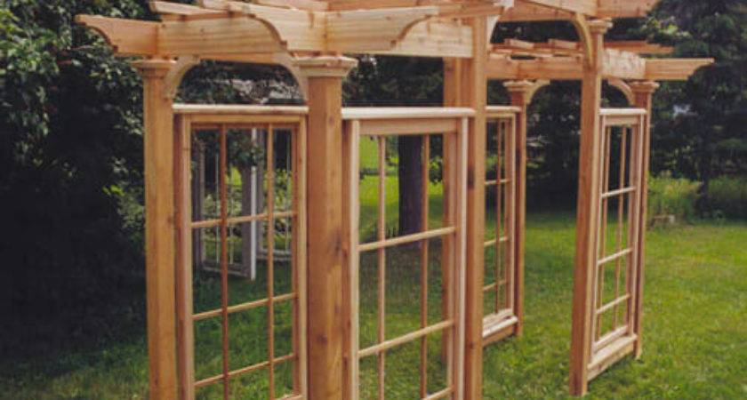 Arts Crafts Pergola Plan Gardenstructure