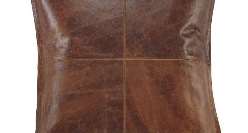 Ashley Brennen Leather Throw Pillow Cover Brown