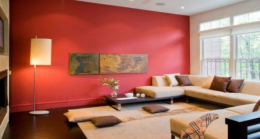 Asian Home Decor Ideas Red Accent Wall Living Room Colors