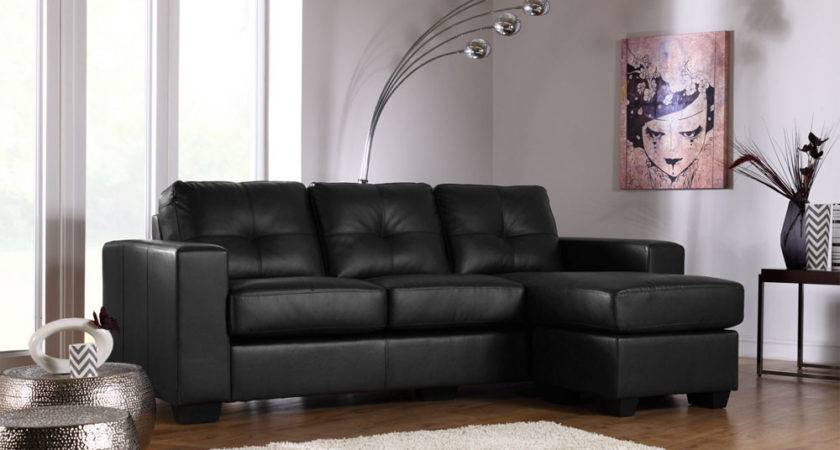 Astonishing Black Leather Sofa Idea Cozy Feet Rest