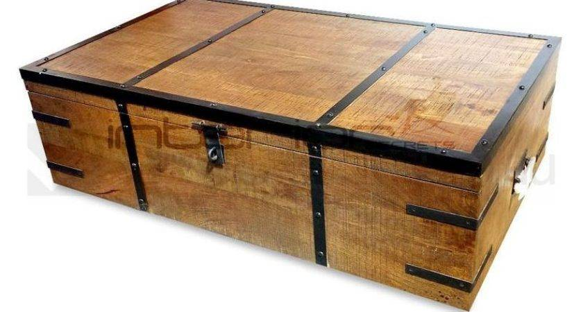 Atlantic Rustic Wood Trunk Storage Box Coffee Table Buy