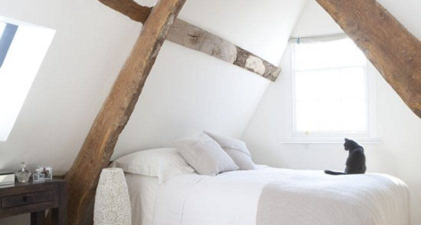 Attic Bedroom Beams Small Bedrooms Country