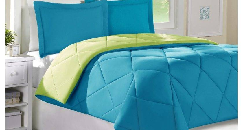 Attractive Blue Green Bedroom Lime Bedding Decosee