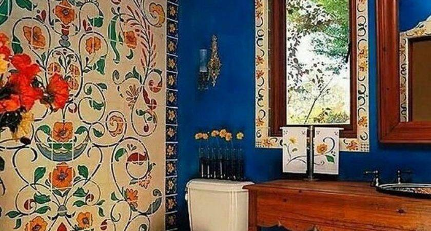 Attractive Bohemian Bathrooms Ideas