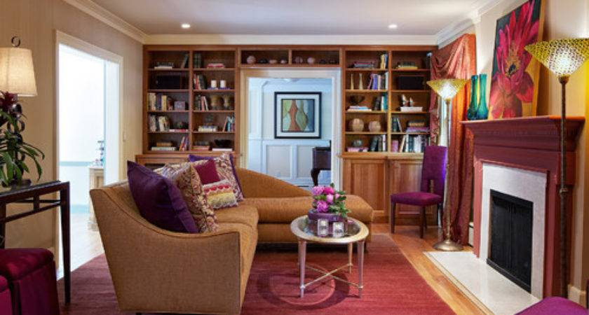 Attractive Red Purple Living Room Color Combinations