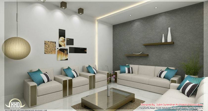 Awesome Interior Renderings Kerala House Design Homes Decor