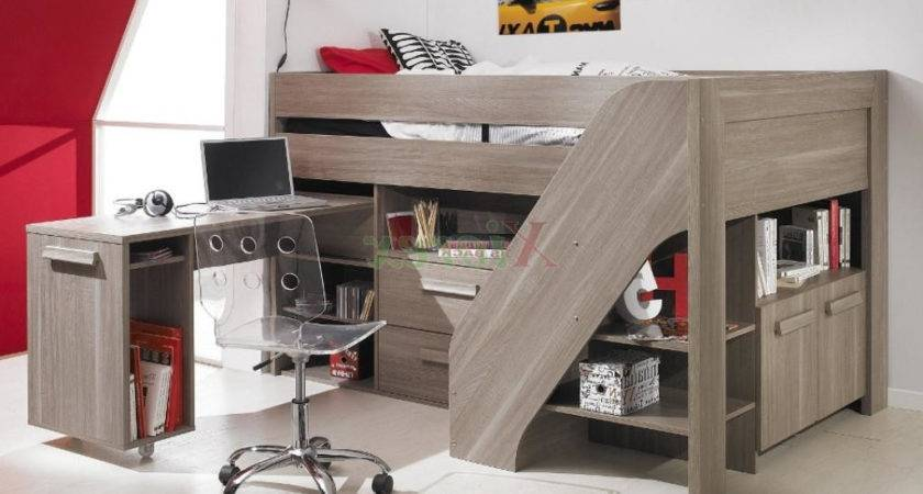 Awesome Loft Bed Desk Underneath
