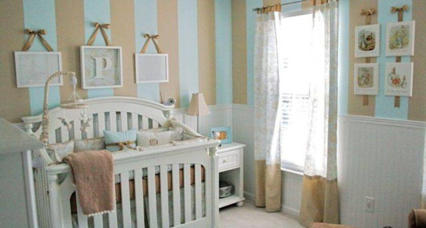 Baby Boy Nursery Stripes Toile Design Dazzle