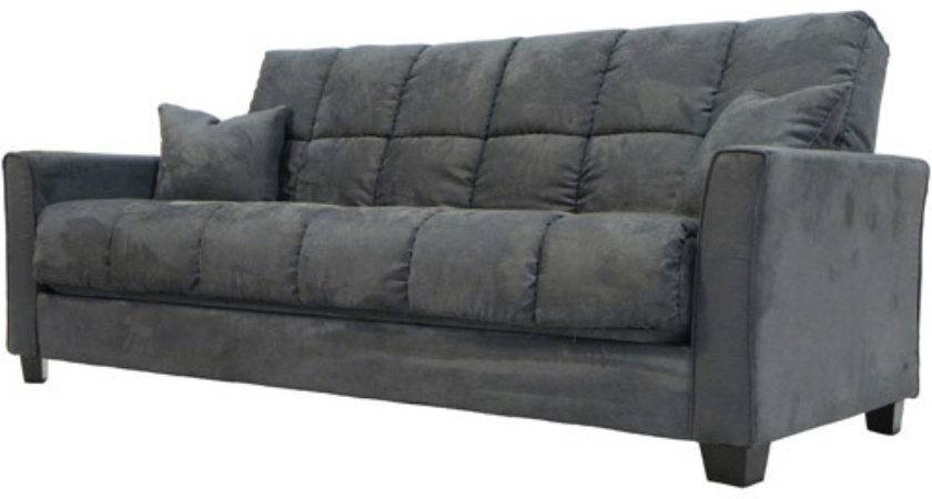 Baja Convert Couch Sofa Bed Charcoal Grey Furniture