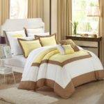 Ballroom Yellow Brown White Piece Comforter Bed