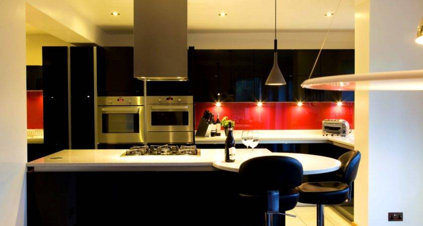Bathroom Winning Black Red Kitchen Decor